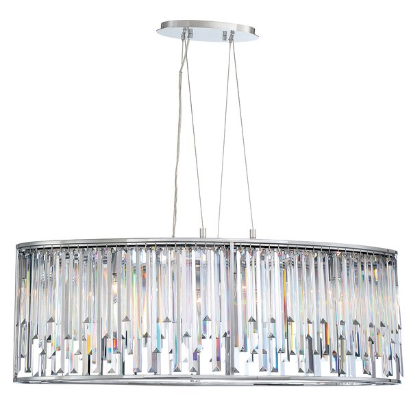 Shira 8 - Light Unique / Statement Geometric Chandelier By Everly Quinn