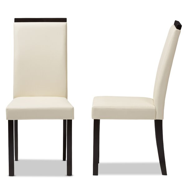 Peterkin Upholstered Dining Chair (Set of 2) by Ebern Designs