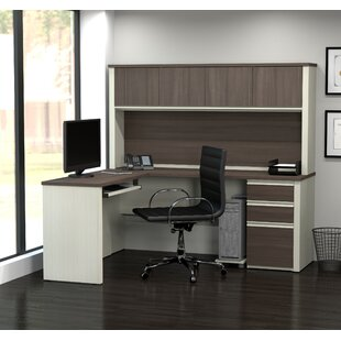 Kenworthy Reversible L-Shape Executive Desk with Hutch