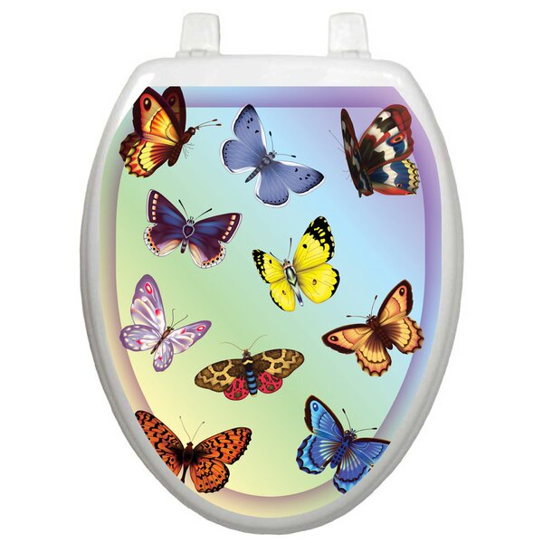 Themes Butterfly Dreams Toilet Seat Decal by Toilet Tattoos