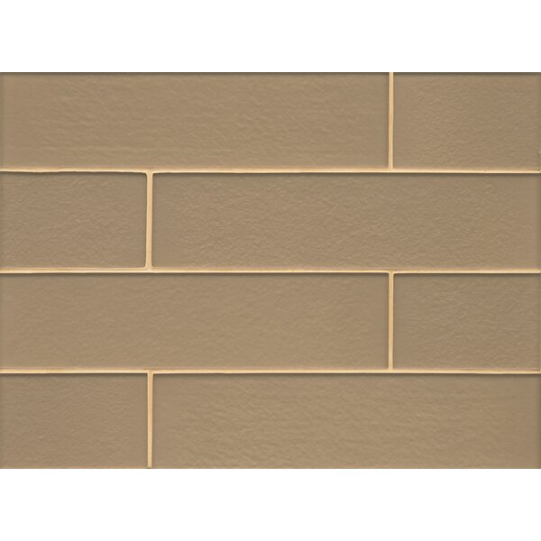 Remy Glass 4 x 16 Mosaic Field Tile Matte in Golden by Grayson Martin