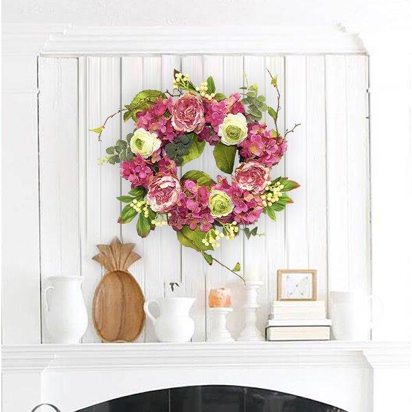Peony and Hydrangea 22 Wreath by Bayou Breeze