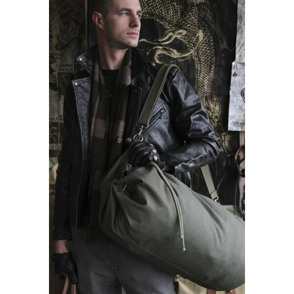 Parson Gray Cavalry Duffel Bag by Amy Butler