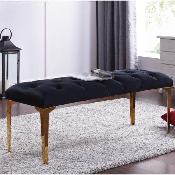 Willaims Metal Upholstered Bench By Mercer41.