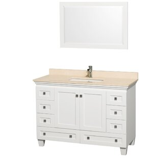 Buying Acclaim 48 Single White Bathroom Vanity Set with Mirror ByWyndham Collection