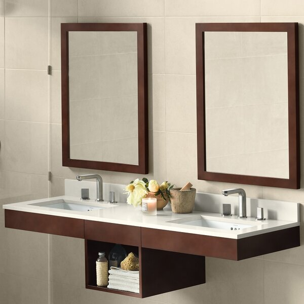 Adina 61 Double Bathroom Vanity Set with Mirror by Ronbow