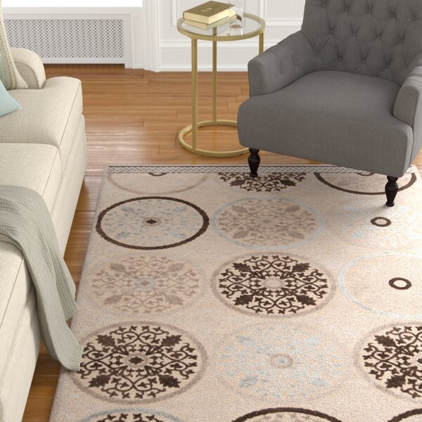 Casey Modern Brown/Khaki Area Rug by Alcott Hill