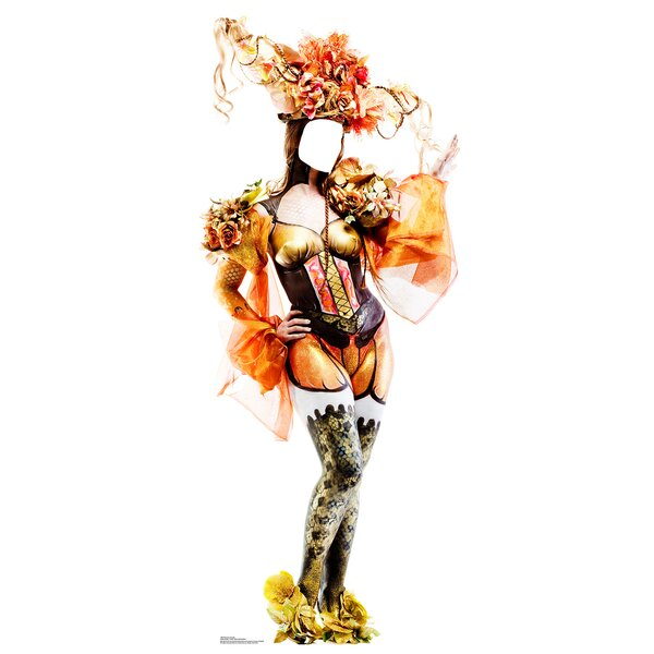 Mardi Gras Showgirl Life-Size Cardboard Stand-In by Advanced Graphics