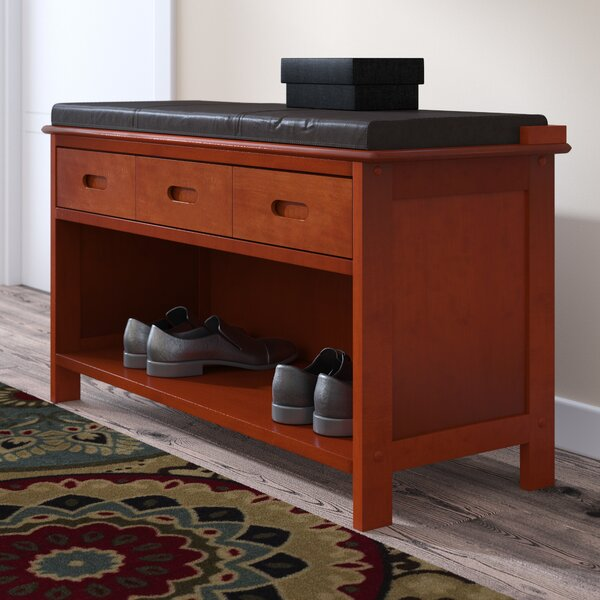 Adriana Wood Storage Bench by Alcott Hill