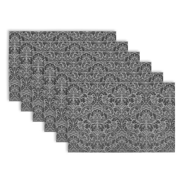 Zimmermann Damask Vinyl Placemat (Set of 6) by Three Posts