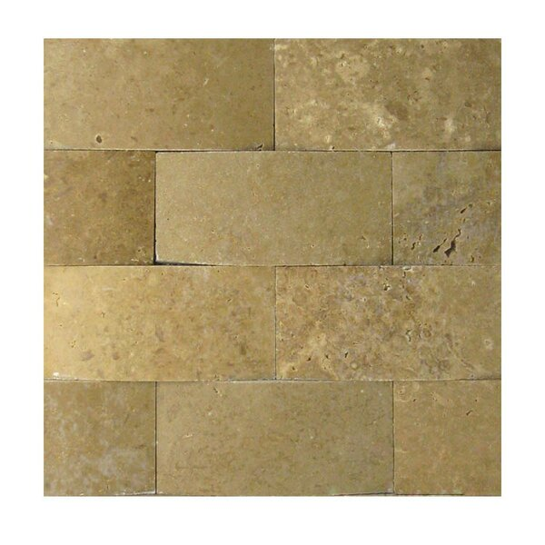 3D Honed 2 x 4 Natural Stone Mosaic Tile in Noce by QDI Surfaces
