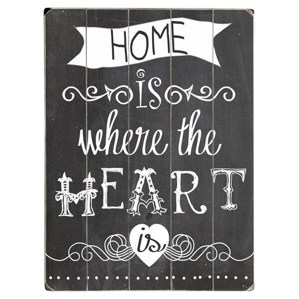 Home is Where the Heart Is Textual Art Multi-Piece Image on Wood by Artehouse LLC
