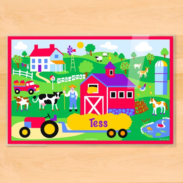 Country Farm Personalized Placemat by Olive Kids