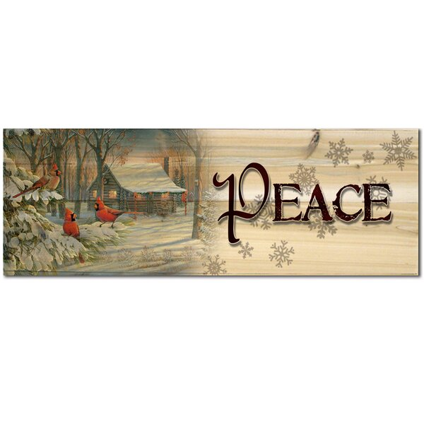Holiday Peace Graphic Art Plaque by WGI-GALLERY
