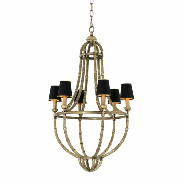 Moreau 6 - Light Shaded Empire Chandelier By Eichholtz
