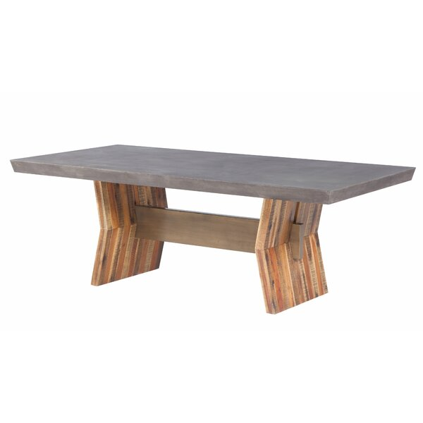 Dusek Concrete Dining Table by Brayden Studio