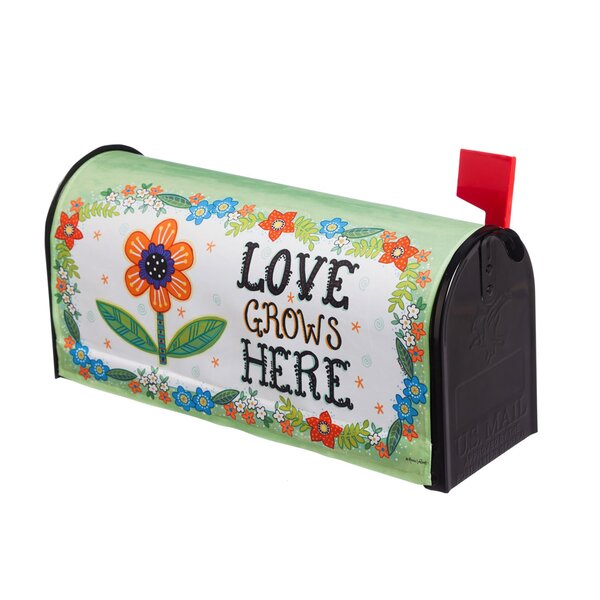 Love Grows Here Mailbox Cover by Evergreen Flag &
