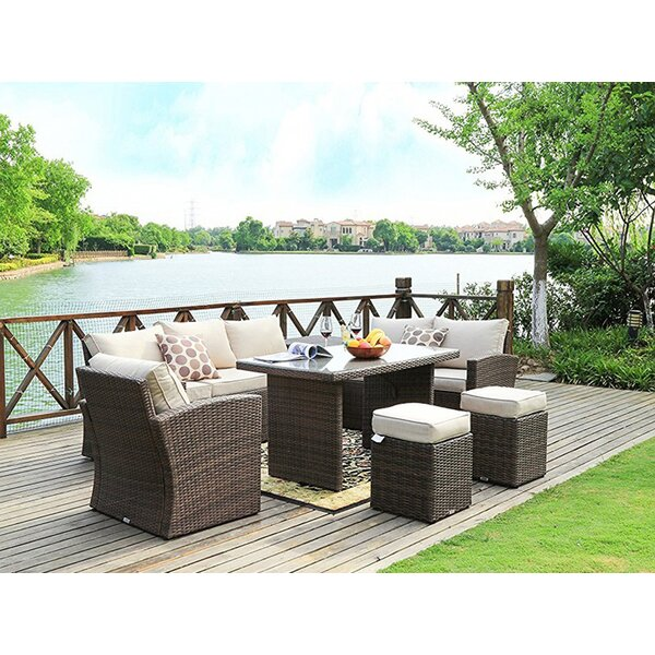 Eilers Outdoor 7 Piece Sofa Seating Group with Cushion by Darby Home Co