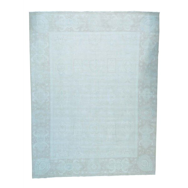 One-of-a-Kind Lausanne Hand-Knotted Sky Blue Area Rug by Canora Grey