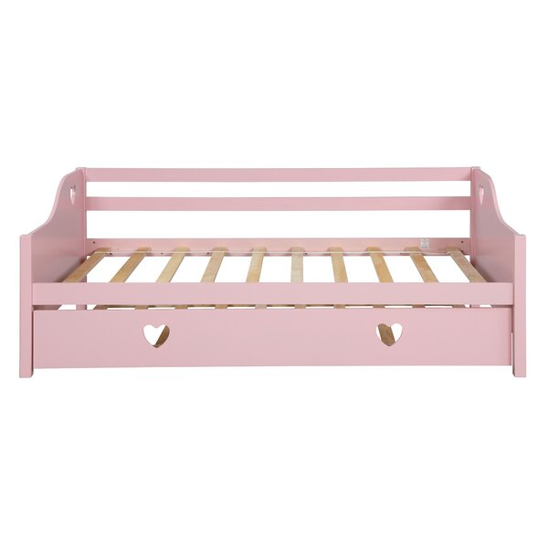 Delphine Wood Twin Daybed With Trundle By Harriet Bee