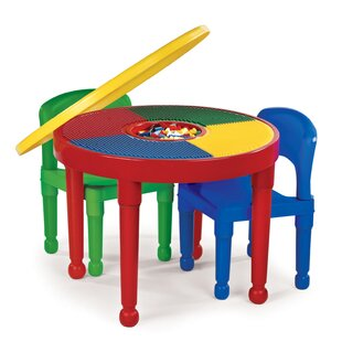 Best Reviews 4 Piece Circular Activity Table & 10 Chair Set By Tot Tutors