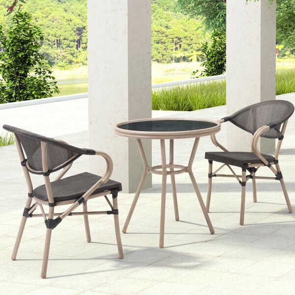 Gainesville 3 Piece Dining Set by Bay Isle Home