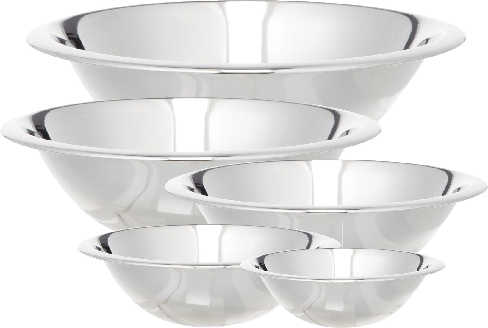 Cook Pro 5 Piece Stainless Steel Mixing Bowl Set & Reviews | Wayfair