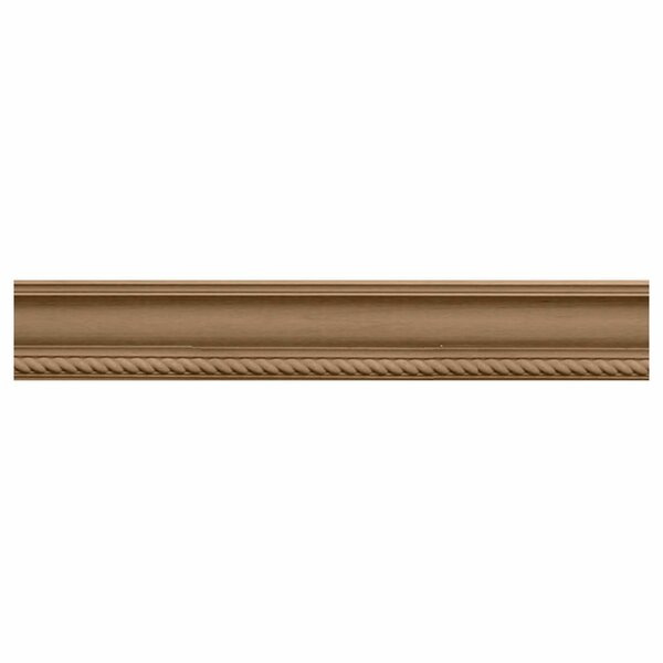 Andrea Rope 2 1/4H x 96W x 2 3/8D Carved Wood Crown Moulding by Ekena Millwork