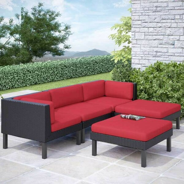 Zoar 5 Sectional Seating Group Set with Cushions by Breakwater Bay