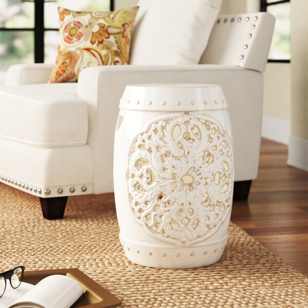 Nagle Ceramic Garden Stool By Three Posts