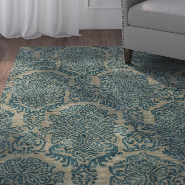Allenport Hand-Tufted Blue Area Rug by Charlton Home