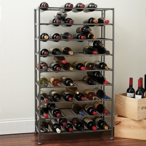 Folding Metal 54 Bottle Floor Wine Rack by Wine Enthusiast