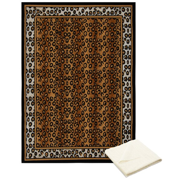 Barlow Brown Area Rug with Rug Pad by Bloomsbury Market