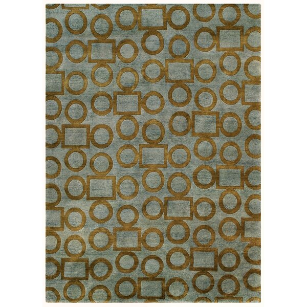 Legacy Gray/Gold Shag Area Rug by Noble House