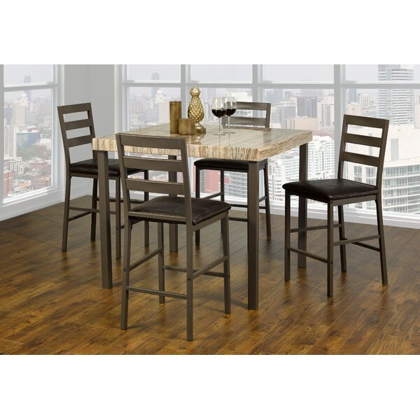 Kisner Marble 5 Piece Dining Set by Red Barrel Studio