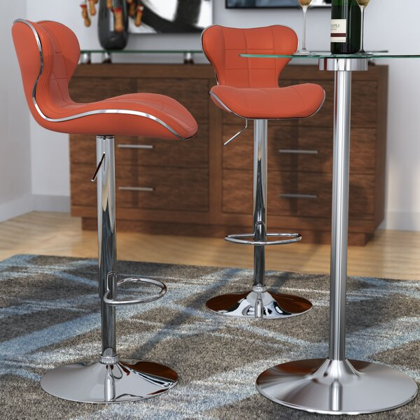 Carty Adjustable Height Swivel Bar Stool (Set of 2) by Orren Ellis