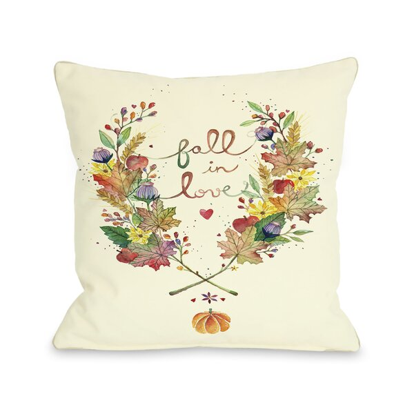 Fall in Love Throw Pillow by One Bella Casa