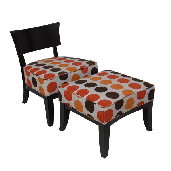 Side Chair And Ottoman by Carolina Accents