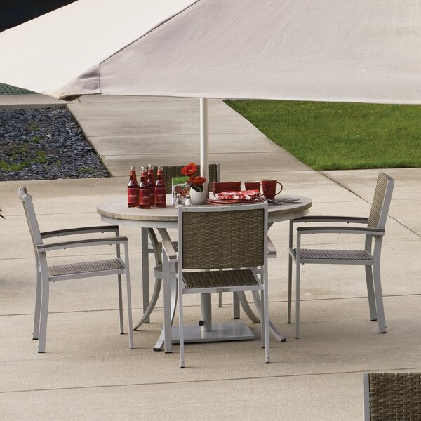 Maclin 5 Piece Teak Dining Set by Latitude Run