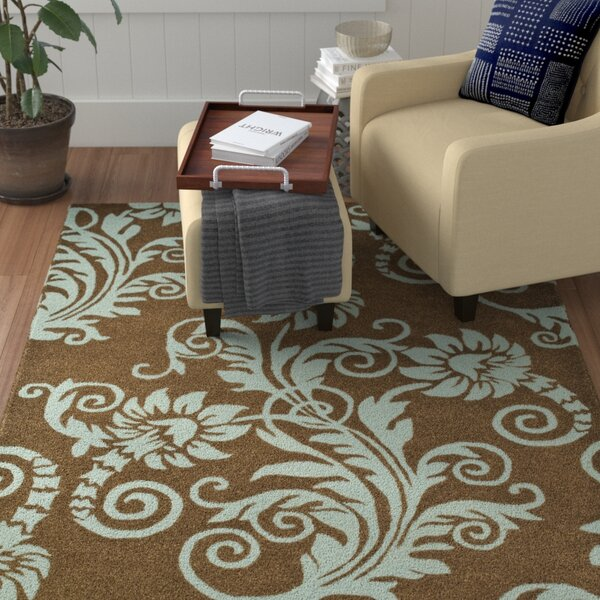 Armstrong Light Brown / Light Blue Contemporary Rug by Winston Porter