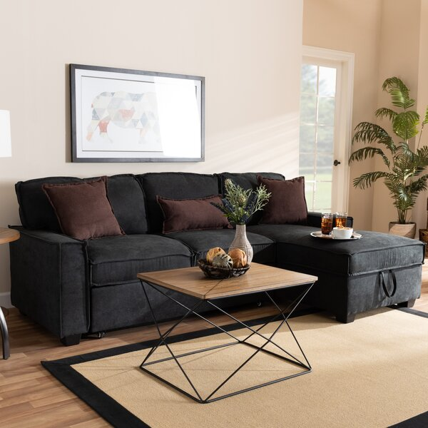 Hersh Modern and Contemporary Right Hand Facing Sleeper Sectional by Winston Porter