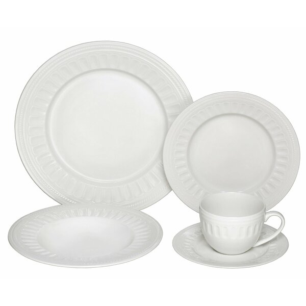 English Lace Premium 40 Piece Dinnerware Set, Service for 8 by Melange