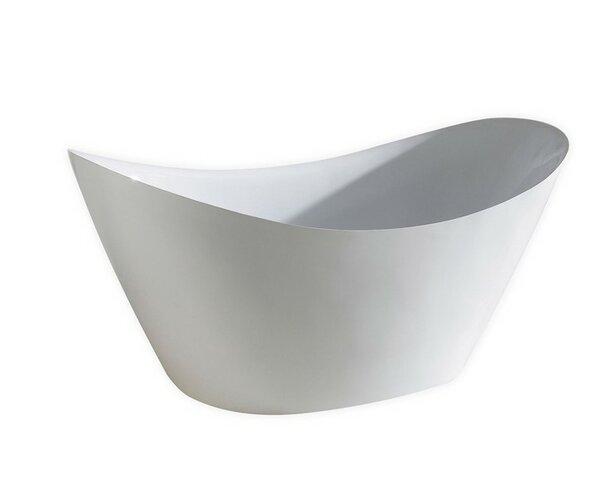 Luna 67.75'' x 28.37 Soaking Bathtub by Kube Bath