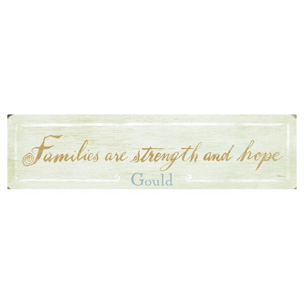 Personalized Families Are Strength Textual Art on Wood by Artehouse LLC
