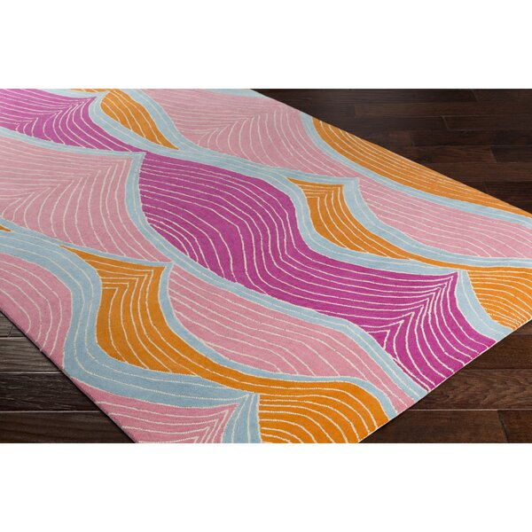 Cleo Hand-Tufted Purple/Pink Area Rug by Viv + Rae