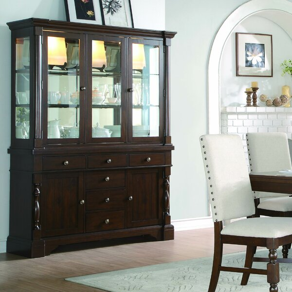 Villeneuve Buffet Lighted China Cabinet by Darby Home Co Darby Home Co