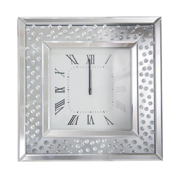 Bladwell Mirrored Wall Clock by Rosdorf Park