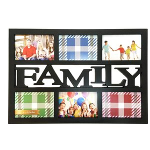 Family 6 Photo Opening Collage Picture Frame