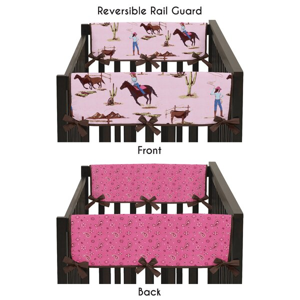 Cowgirl Side Crib Rail Guard Cover (Set of 2) by Sweet Jojo Designs