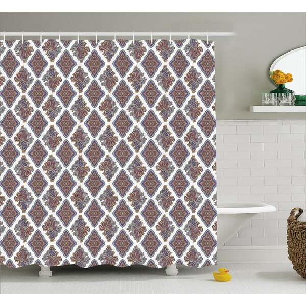 Bean Indian Floral Pattern Shower Curtain by Charlton Home